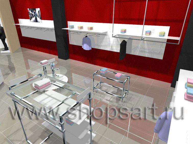 Торговое оборудование МИНИМАЛИЗМ для магазинов одежды