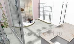 Визуализация магазина цветов АРОМАТНЫЙ МИР Картинка 05