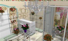 Визуализация магазина цветов BLEU LAVANDE Москва АРОМАТНЫЙ МИР Картинка 02