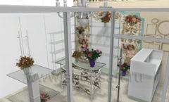 Визуализация магазина цветов BLEU LAVANDE Москва АРОМАТНЫЙ МИР Картинка 04