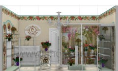 Визуализация магазина цветов BLEU LAVANDE Москва АРОМАТНЫЙ МИР Картинка 05
