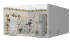 Визуализация магазина цветов BLEU LAVANDE Москва АРОМАТНЫЙ МИР Картинка 07