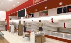 Визуализация магазина обуви MILANA Москва ГЛАМУР Картинка 1