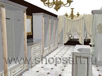 Торговое оборудование для бутиков одежды ЭЛИТ ГОЛД