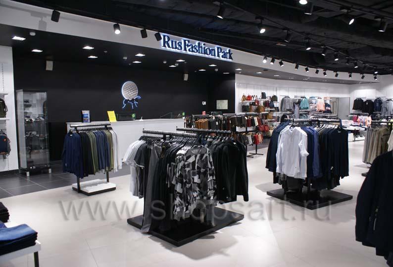Торговое оборудование для одежды RFP мужской зал BLACK STAR