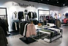 Торговое оборудование для одежды RFP женский зал BLACK STAR