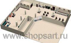 Торговое оборудование РОНДО магазина Охота на рыбалку Дизайн 12