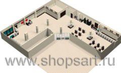 Торговое оборудование РОНДО магазина Охота на рыбалку Дизайн 14