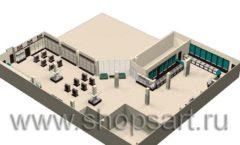 Торговое оборудование РОНДО магазина Охота на рыбалку Дизайн 15