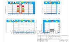 Дизайн проект детского магазина Емеля торговое оборудование КАРАМЕЛЬ Лист 19