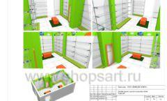 Дизайн проект детского магазина Емеля торговое оборудование КАРАМЕЛЬ Лист 30