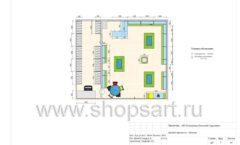 Дизайн проект детского магазина Волшебная прогулка торговое оборудование АКВАРЕЛИ Лист 05