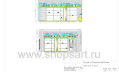 Дизайн проект детского магазина Волшебная прогулка торговое оборудование АКВАРЕЛИ Лист 13