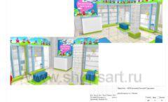 Дизайн проект детского магазина Волшебная прогулка торговое оборудование АКВАРЕЛИ Лист 14