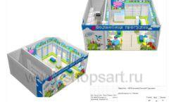 Дизайн проект детского магазина Волшебная прогулка торговое оборудование АКВАРЕЛИ Лист 16