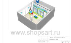 Дизайн проект детского магазина Волшебная прогулка торговое оборудование АКВАРЕЛИ Лист 17
