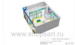 Дизайн проект детского магазина Волшебная прогулка торговое оборудование АКВАРЕЛИ Лист 18