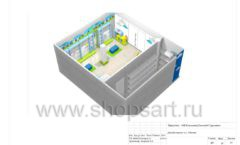 Дизайн проект детского магазина Волшебная прогулка торговое оборудование АКВАРЕЛИ Лист 19