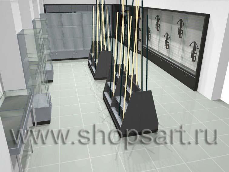 Торговое оборудование для рыбалки магазина Охотник ОХОТА И РЫБАЛКА