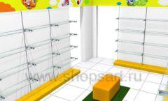 Торговое оборудование КАРАМЕЛЬ для магазина Емеля Дизайн 03