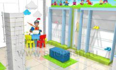 Торговое оборудование АКВАРЕЛИ детского магазина ВОЛШЕБНАЯ ПРОГУЛКА Дизайн 01