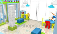 Торговое оборудование АКВАРЕЛИ детского магазина ВОЛШЕБНАЯ ПРОГУЛКА Дизайн 02