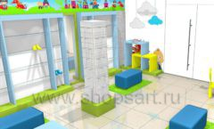 Торговое оборудование АКВАРЕЛИ детского магазина ВОЛШЕБНАЯ ПРОГУЛКА Дизайн 03