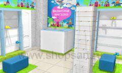Торговое оборудование АКВАРЕЛИ детского магазина ВОЛШЕБНАЯ ПРОГУЛКА Дизайн 05