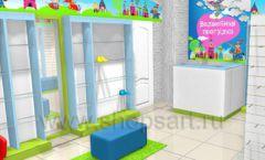 Торговое оборудование АКВАРЕЛИ детского магазина ВОЛШЕБНАЯ ПРОГУЛКА Дизайн 06
