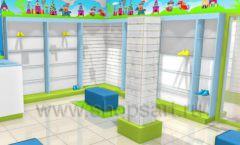 Торговое оборудование АКВАРЕЛИ детского магазина ВОЛШЕБНАЯ ПРОГУЛКА Дизайн 07