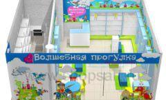 Торговое оборудование АКВАРЕЛИ детского магазина ВОЛШЕБНАЯ ПРОГУЛКА Дизайн 09