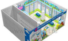 Торговое оборудование АКВАРЕЛИ детского магазина ВОЛШЕБНАЯ ПРОГУЛКА Дизайн 10