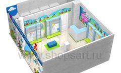Торговое оборудование АКВАРЕЛИ детского магазина ВОЛШЕБНАЯ ПРОГУЛКА Дизайн 11