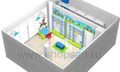 Торговое оборудование АКВАРЕЛИ детского магазина ВОЛШЕБНАЯ ПРОГУЛКА Дизайн 12