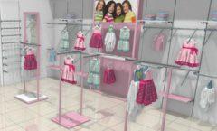 Торговое оборудование РАДУГА для детского магазина ACOO LIKE Дизайн 02