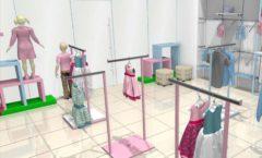 Торговое оборудование РАДУГА для детского магазина ACOO LIKE Дизайн 03