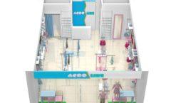 Торговое оборудование РАДУГА для детского магазина ACOO LIKE Дизайн 16
