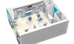 Торговое оборудование РАДУГА для детского магазина ACOO LIKE Дизайн 17