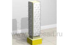 Стойка островная колонна панели желтая торговое оборудование БИЖУЛЕНД