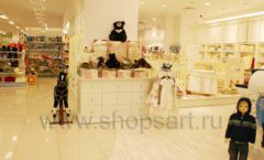 Торговое оборудование БЕЛАЯ КЛАССИКА для детского магазина Винни ТЦ Юнимолл Фото 07