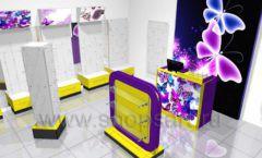 Торговое оборудование БИЖУЛЕНД магазина бижутерии Дизайн 02
