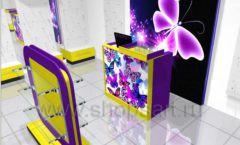 Торговое оборудование БИЖУЛЕНД магазина бижутерии Дизайн 03