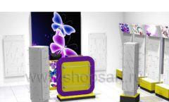Торговое оборудование БИЖУЛЕНД магазина бижутерии Дизайн 05