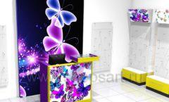 Торговое оборудование БИЖУЛЕНД магазина бижутерии Дизайн 08