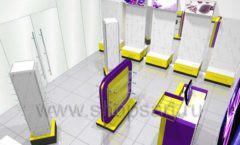 Торговое оборудование БИЖУЛЕНД магазина бижутерии Дизайн 11