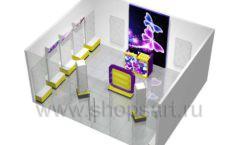 Торговое оборудование БИЖУЛЕНД магазина бижутерии Дизайн 16