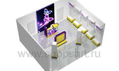 Торговое оборудование БИЖУЛЕНД магазина бижутерии Дизайн 17