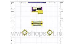 Торговое оборудование БИЖУЛЕНД магазина бижутерии Дизайн 18