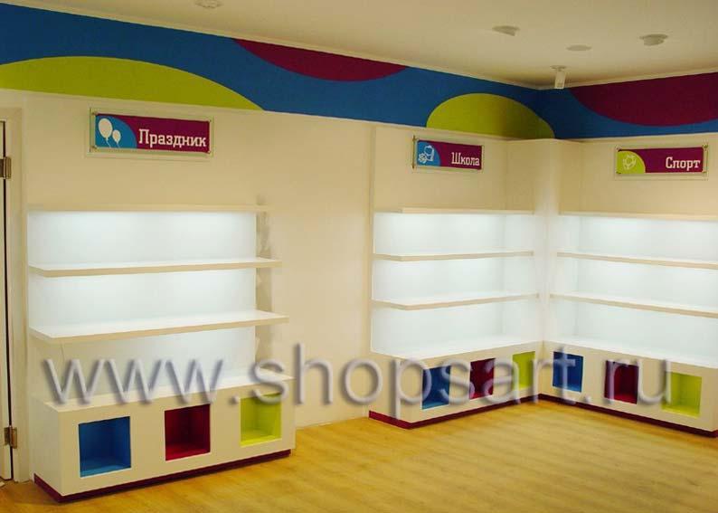 Торговое оборудование для детского магазина обуви Весело шагать Санкт-Петербург КАРАМЕЛЬ