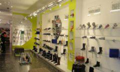 Торговое оборудование СИНИЙ ВЕТЕР детский магазин Винни обувь Рублевское шоссе Фото 01